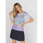 Rainbow Leopard Wide T-shirt