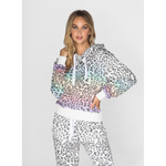 Rainbow Leopard Cropped Pullover