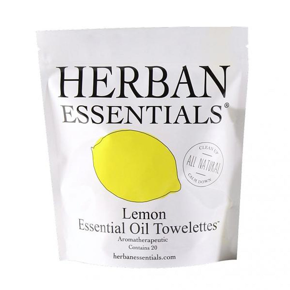 Herban Essentials Towelettes - Lemon