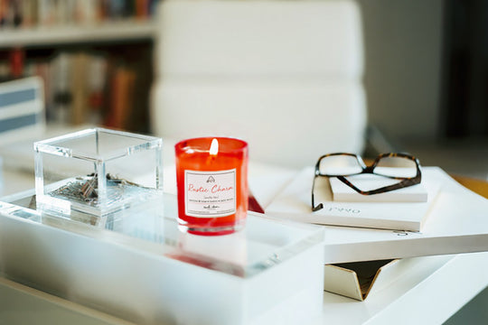 An example of Rustic Charm scented candle scents in the workplace