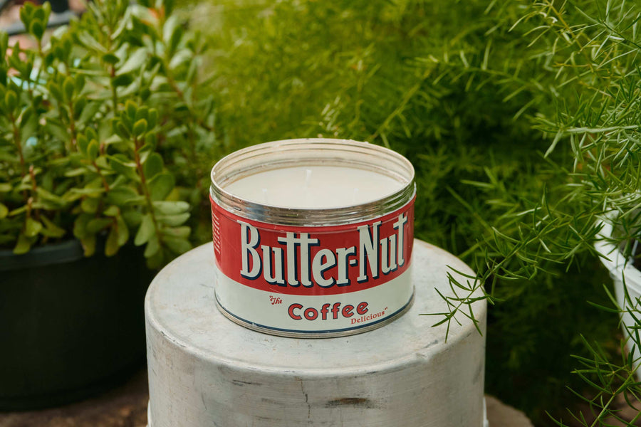 Vintage Beech-Nut Coffee Can Tin | Strawberry Pound Cake