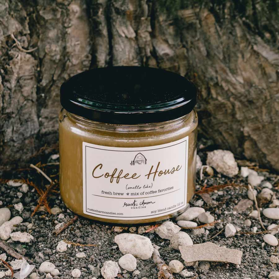 Rustic Charm Candles | 12-oz Scented Candle | Coffee House