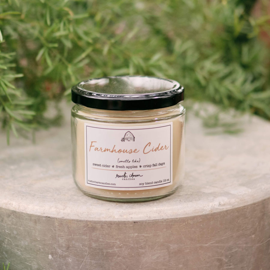 Rustic Charm Candles | 12-oz Scented Candle | Farmhouse Cider