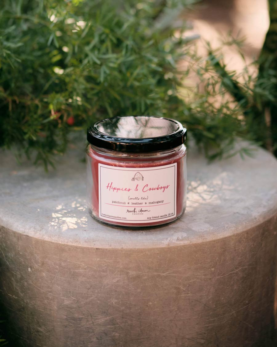 Rustic Charm Candles | 12-oz Scented Candle | Hippies & Cowboys