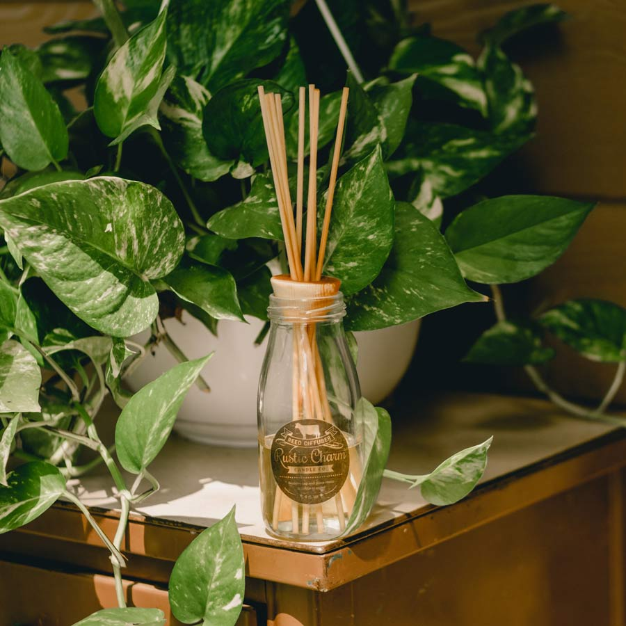 Rustic Charm Candles | Milk Bottle Reed Diffuser