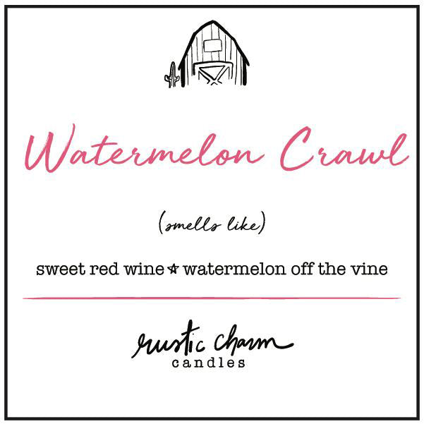 Rustic Charm Candles | Watermelon Crawl