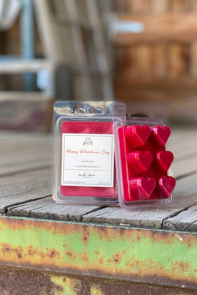 Rustic Charm Candles | Wax Melt | Happy Valentine's Day (You Melt My Heart)