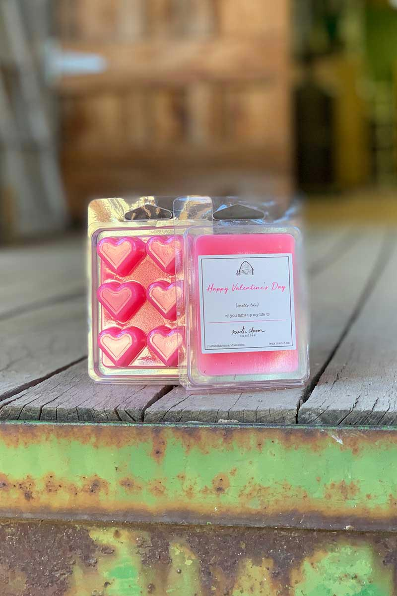 Rustic Charm Candles | Wax Melt | Happy Valentine's Day