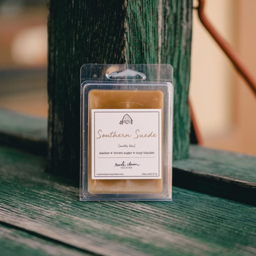 Rustic Charm Candles | Wax Melt | Southern Suede