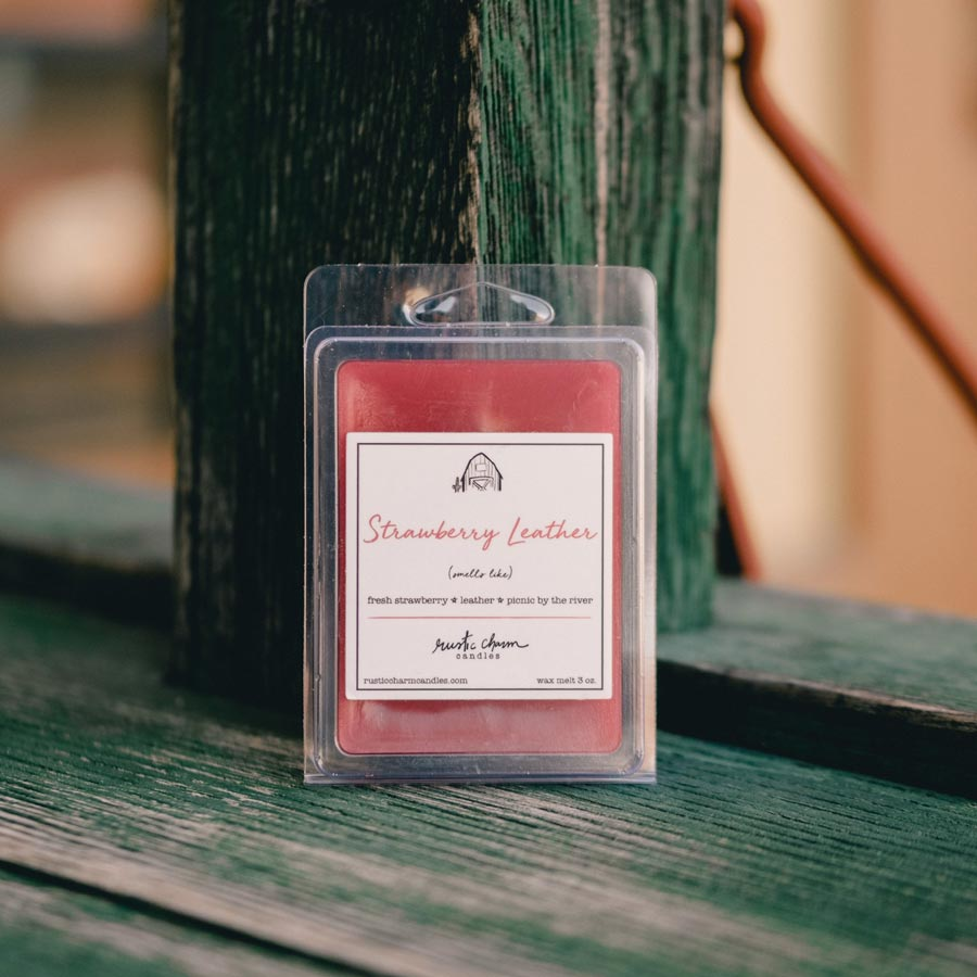 Rustic Charm Candles | Wax Melt | Strawberry Leather