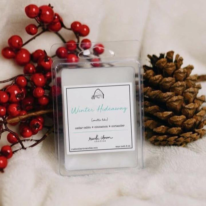 Rustic Charm Candles | Wax Melt | Winter Hideaway