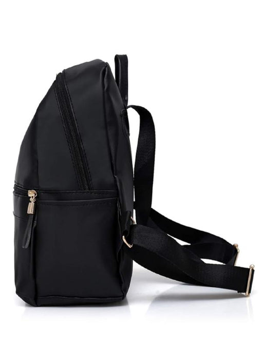 Metal Detail Backpack With Clutch