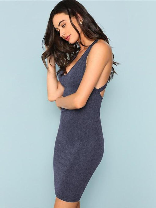 Erika Crisscross Back Dress
