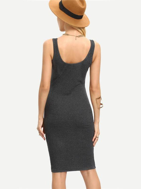 Alexis Grey Bodycon Dress