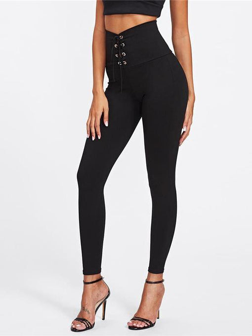 Pearlie Lace Up Leggings