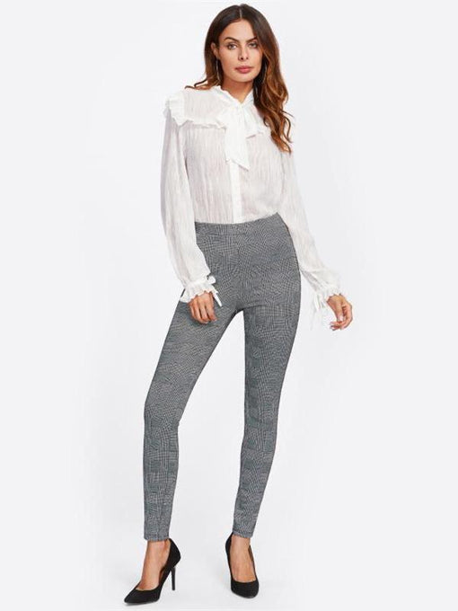 Lilianna Grey Plaid Pants