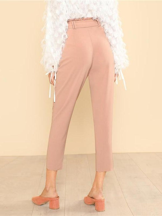Judith Pink Zipper Pants