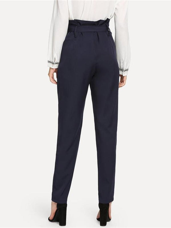 Audrina Navy High Waist Pants
