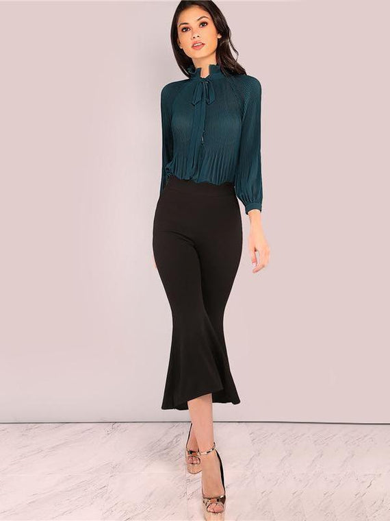 Chelsea Green Long Sleeve Elegant Bodysuit