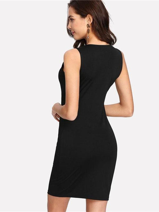 Kelly Crisscross Front Bodycon Dress