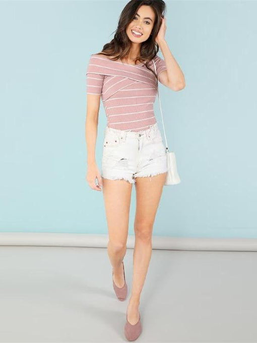 Esme Pink Off-Shoulder Top