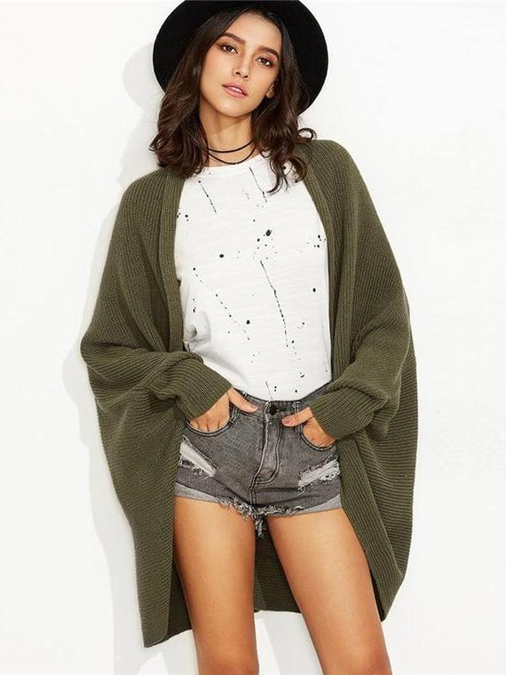 Emberly Olive Green Cardigan