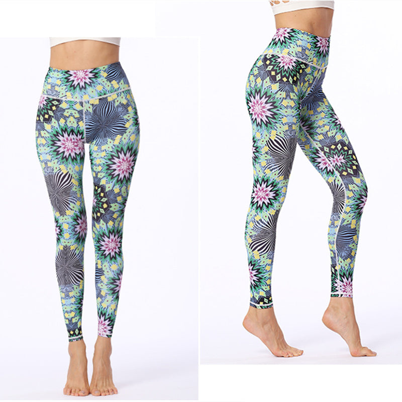 chrysanthemums leggings