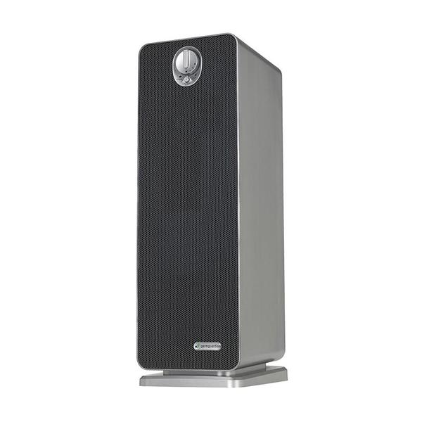 black and silver rectangular tower air purifier