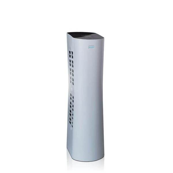 white narrow air purifier