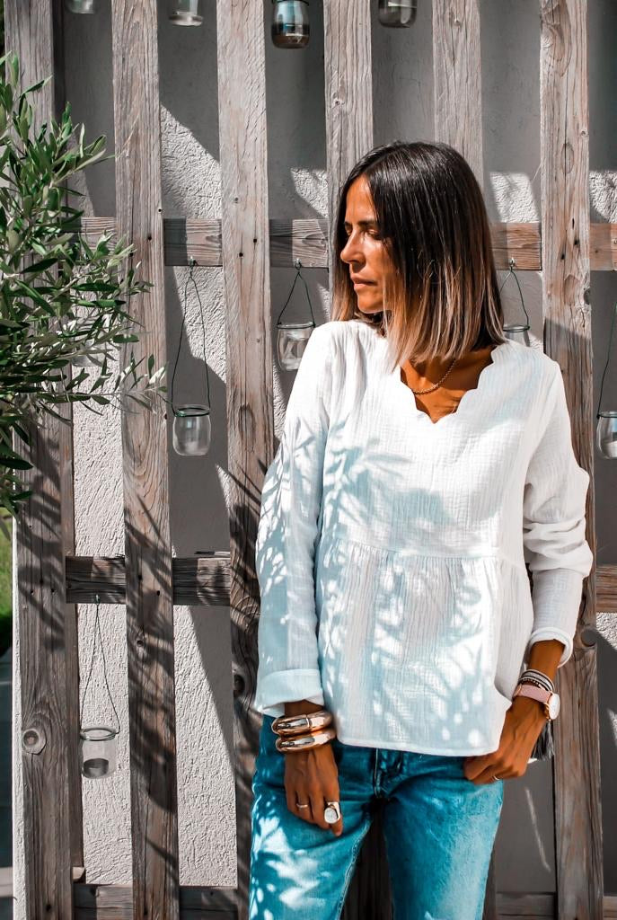 Blouse OCTAVIA Blanche