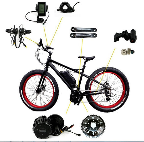 Image of Mid-mounted Electric Bicycle Modification Kit