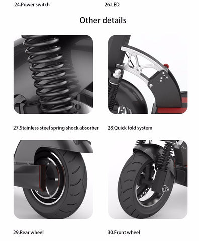 10 inch wheel 500W Electric Scooter