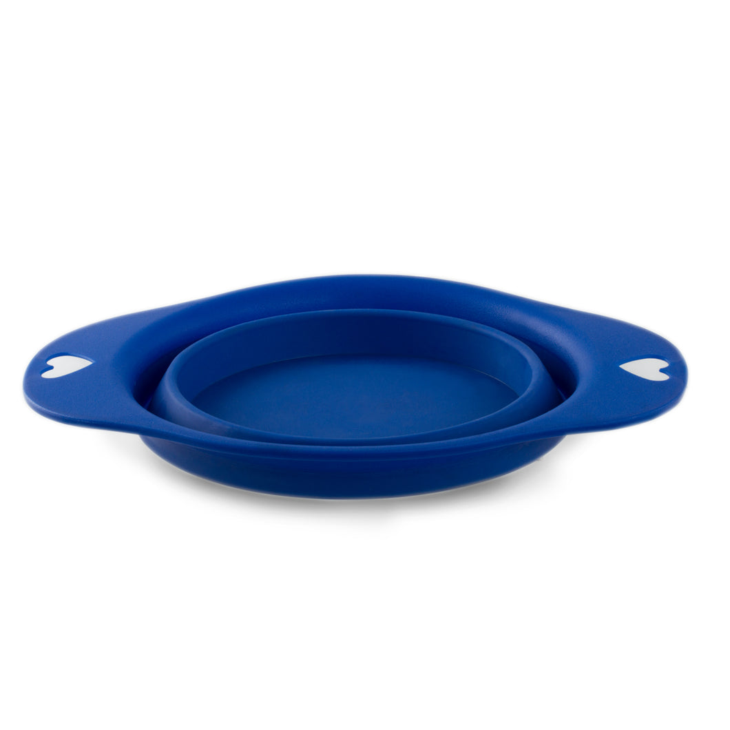 Blue Collapsible Dog Bowl - 24 Oz Dog Travel Water Bowl