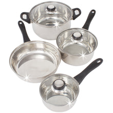 Load image into Gallery viewer, Stainless Steel 7 Pcs. Cookware set Dutch Oven Fry Pan Saucepan