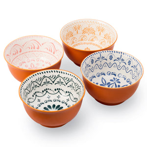 High Quality Large 6 Inch Ceramic Cereal Soup Pasta Bowl Set 4 Pcs Ceramic Bowls
