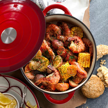 Load image into Gallery viewer, Chef Quality Cast Iron Dutch Oven - 5 QT Enamel Dutch Oven Pot (Red)