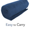 Imperial Home 50 x 60 Inch Soft Cozy Fleece Blanket / Fleece Throw - Navy Blue