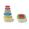 Always Fresh Plastic Food Containers Fiesta Edition Square - 10 pcs Set