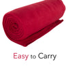 50 x 60 Inch Soft Cozy Fleece Blanket / Fleece Throw - Red