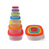 14 Pcs Always Fresh Plastic Food Storage Containers Set With Color Coded Lids