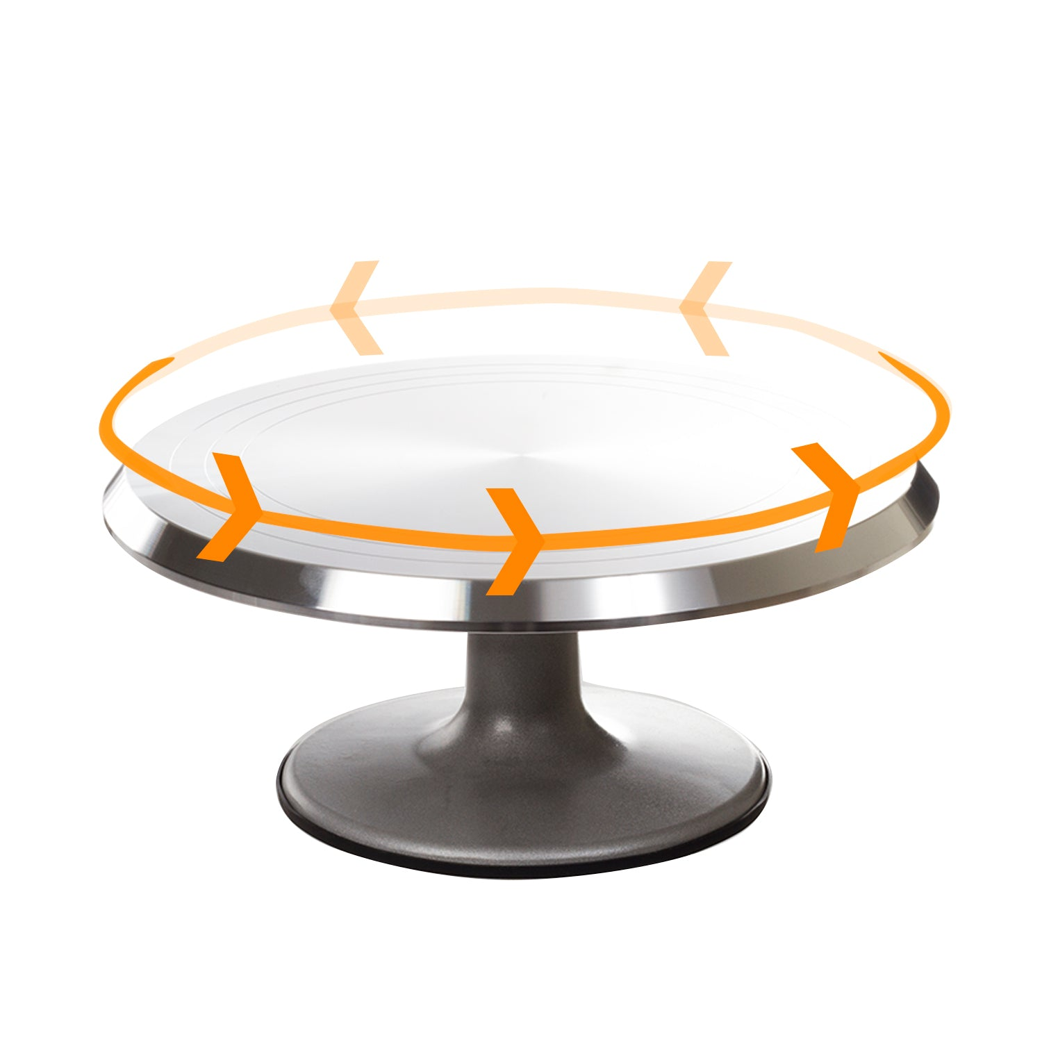 Pedestal Cake Stand – Metal Rotating Cake Stand – Cake Cupcake Stands - Revolving Cake Stand with Cake Decorating Tools