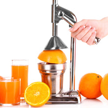 Load image into Gallery viewer, Manual Juicer Press – Chrome Finish Hand Juicer Press – Juice Press Citrus Juicer Manual Tool – Juicer Press Manual Citrus Juicer