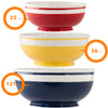Mr. Food 3 pieces Ceramic Mixing Bowl Set - Colorful Mixing Stackable Bowls
