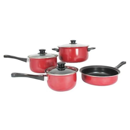 Carbon Steel 7 Pieces Non stick Cookware Set Dutch Oven Sauce & Fry Pan
