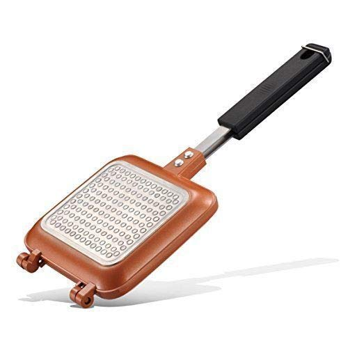 Non-Stick Sandwich Grill Press – Panini Press Grill – Copper Infused Sandwich Pan – Hot Sandwich Press