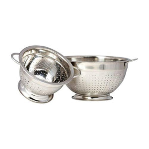 Stainless Steel Colander Set - Metal Colander Set – Colander Stainless Steel Set – Large & Small Colander with Handles