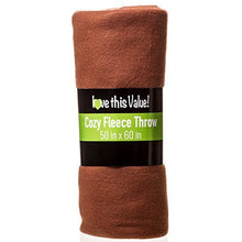 Load image into Gallery viewer, Imperial Home Cozy 50 X 60 Fleece Throw Blanket (Brown)