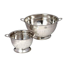 Load image into Gallery viewer, Stainless Steel Colander Set - Metal Colander Set – Colander Stainless Steel Set – Large & Small Colander with Handles