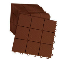 "Load image into Gallery viewer, 12 Piece Patio Walkway Pavers 11 3/4"" X 11 3/4"" SetB Brick Color"