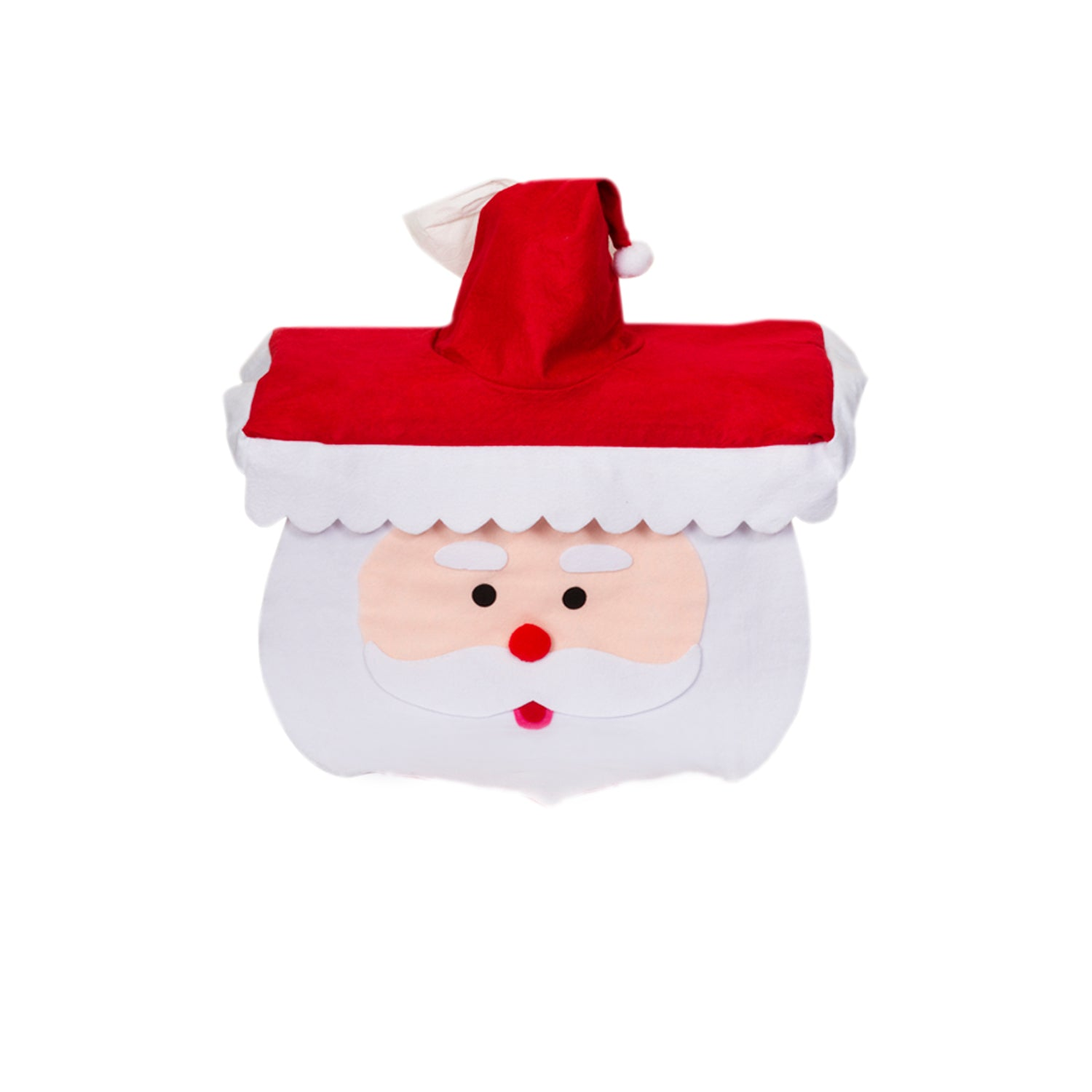 3 Pc Festive Santa Clause Toilet Seat Cover
